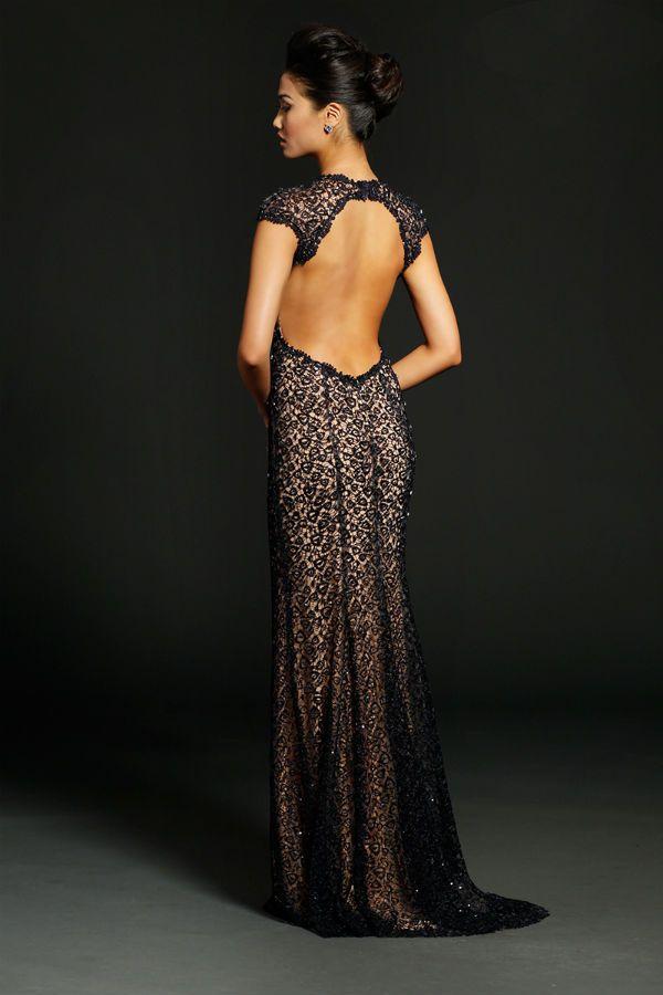 Вечернее платье с вырезом на спине фото