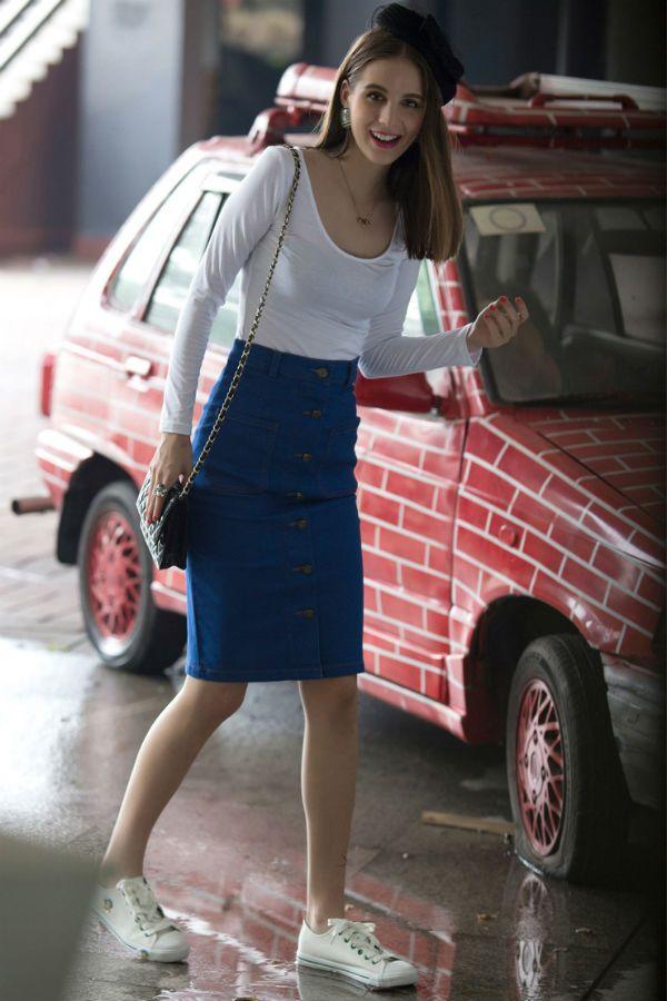 юбка с завышенной талией летняя  фото