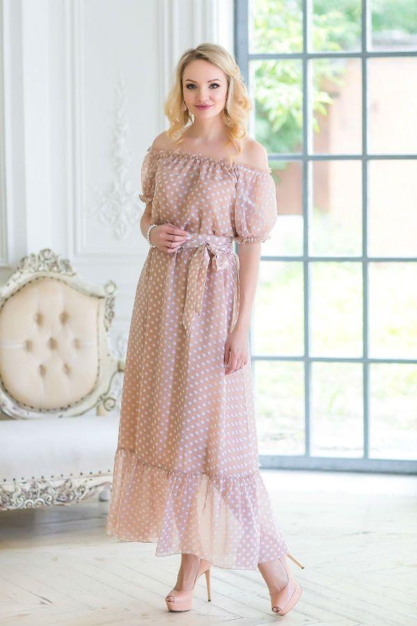 Платье с опущенными плечами фото