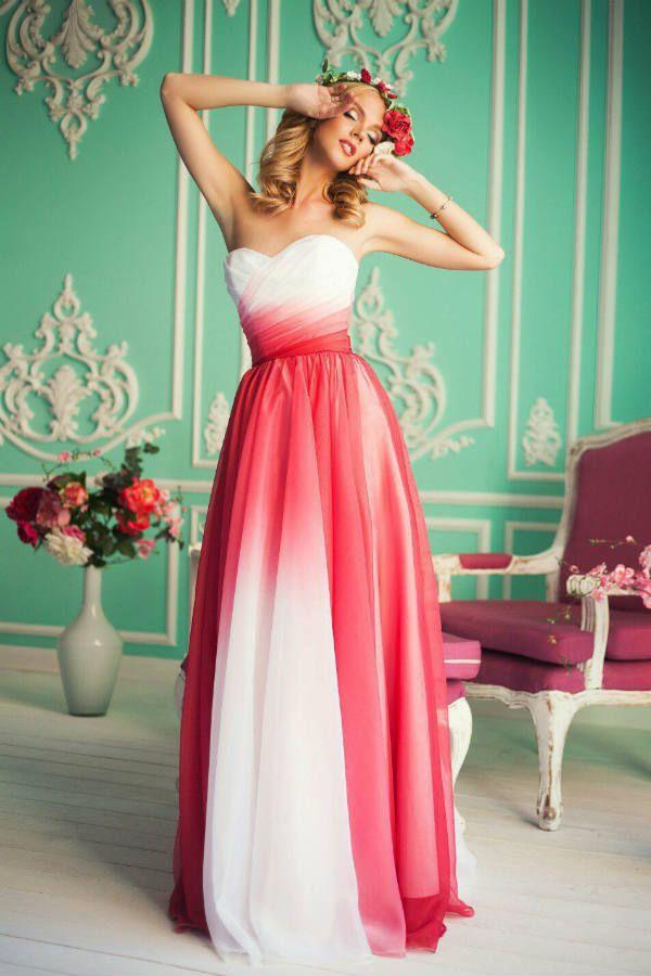 Платье с переходом цвета фото