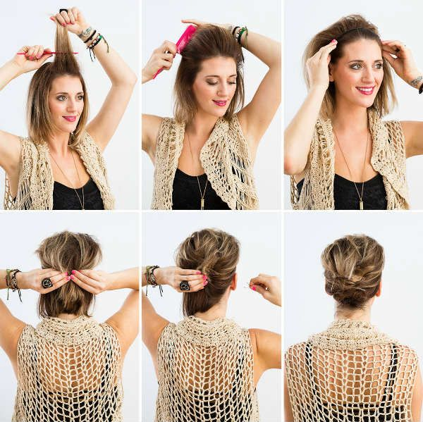 Прическа на коротких волосах фото