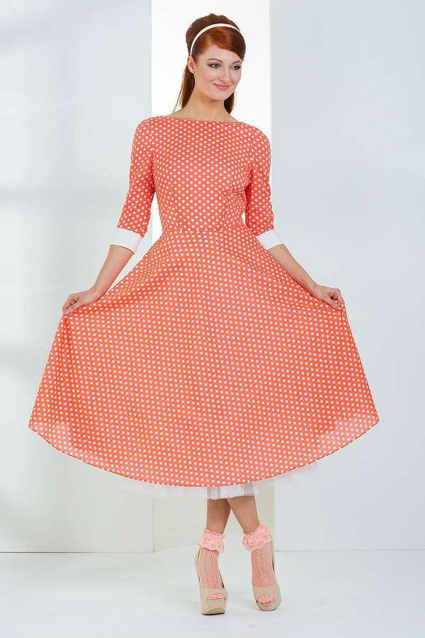 Ретро платье из шифона фото