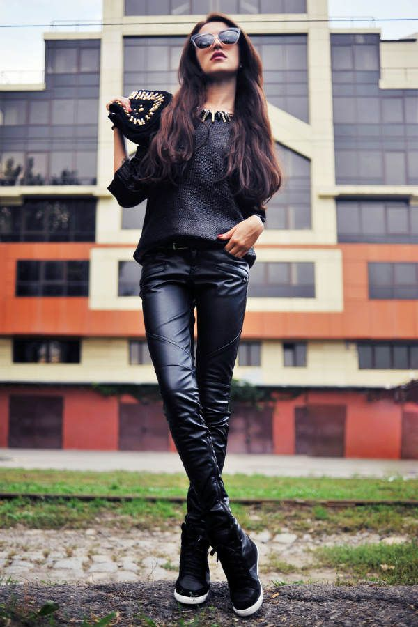 Рок стиль для девушек фото