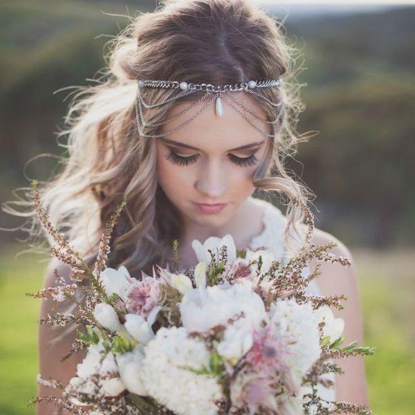 Свадебная укладка с повязкой фото