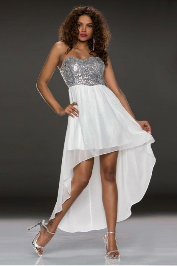 Асимметричное длинное платье фото