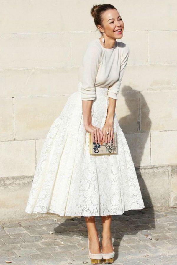 Длинная юбка солнце фото