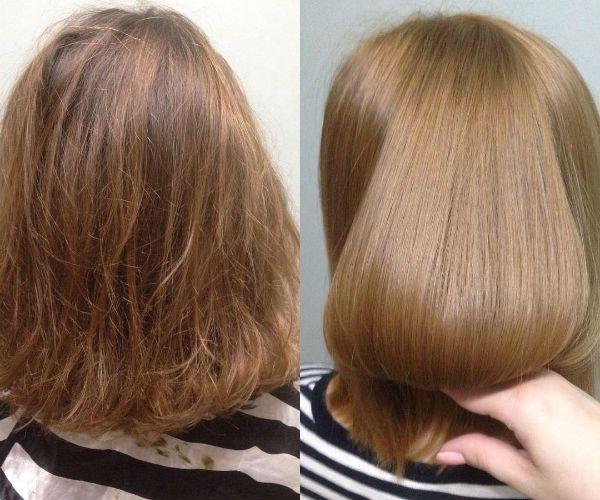 Глазирование волос Матрикс фото
