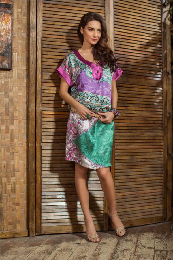 Летнее платье туника фото