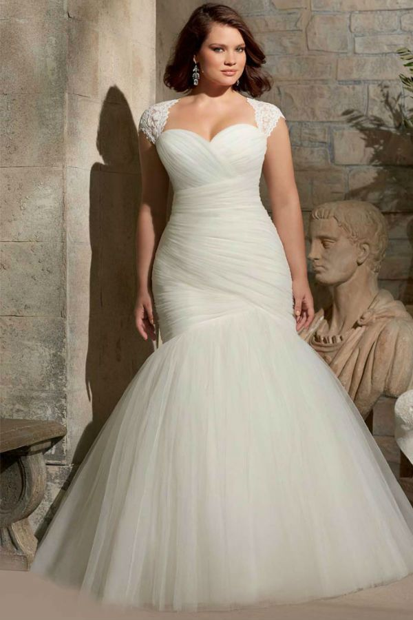 Платье свадебное для полных фото