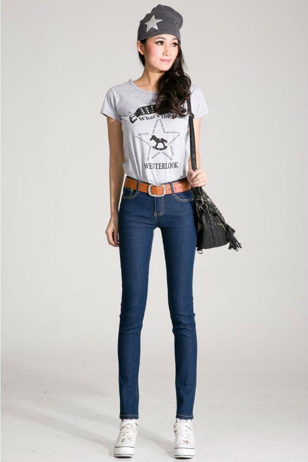 Стрейч джинсы фото