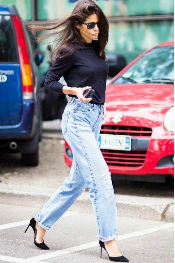 Свободные джинсы фото