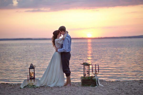 Церемония на закате фото