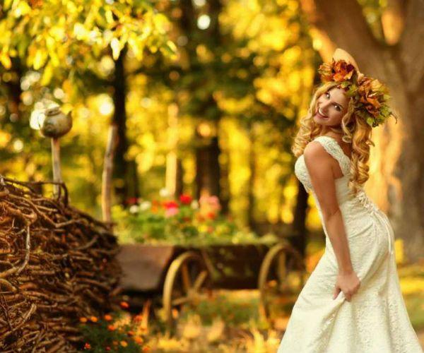 Декор для осенней свадьбы фото