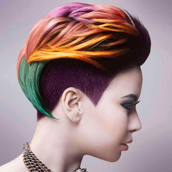 Креативная стрижка на короткие волосы фото