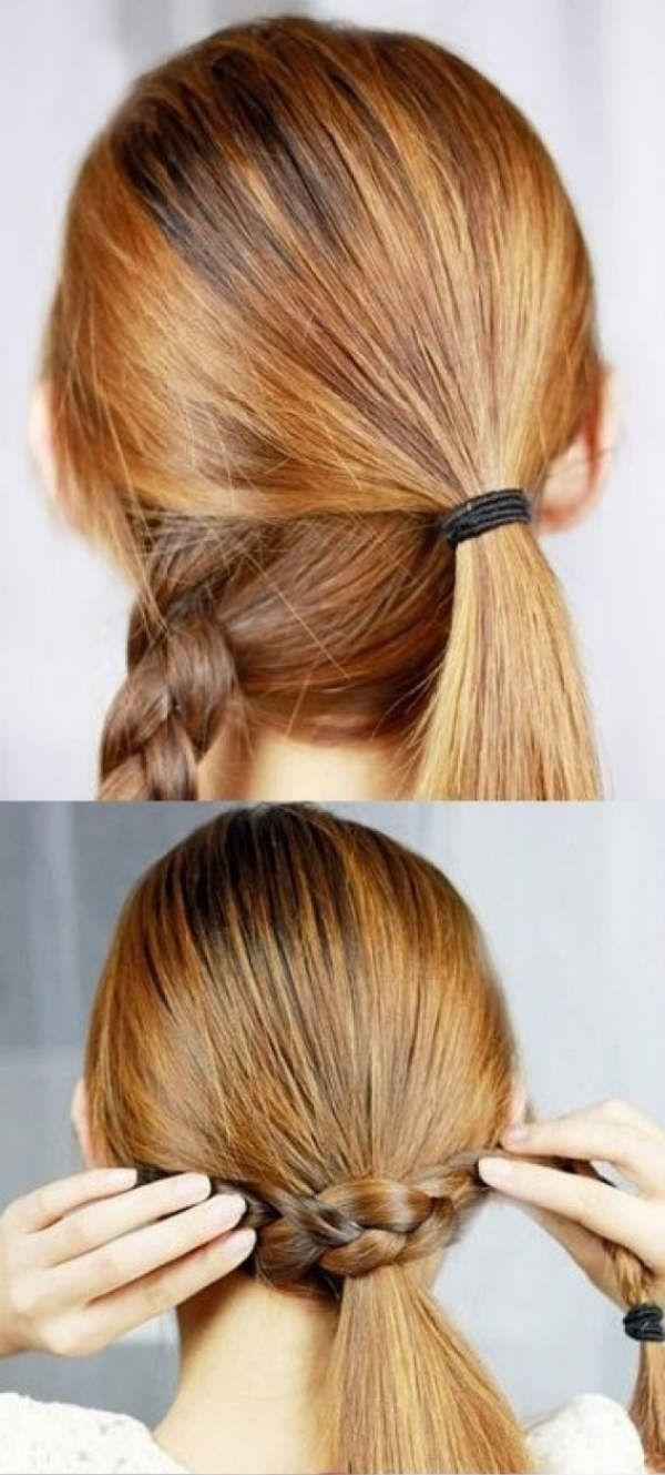 Коса вместо резинки 1 фото