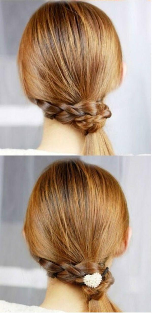 Коса вместо резинки 2 фото