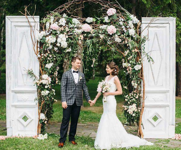 Венчание в саду фото