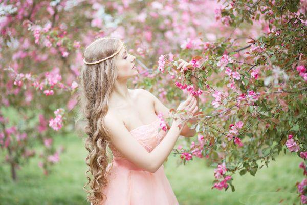 Невеста в розовом фото