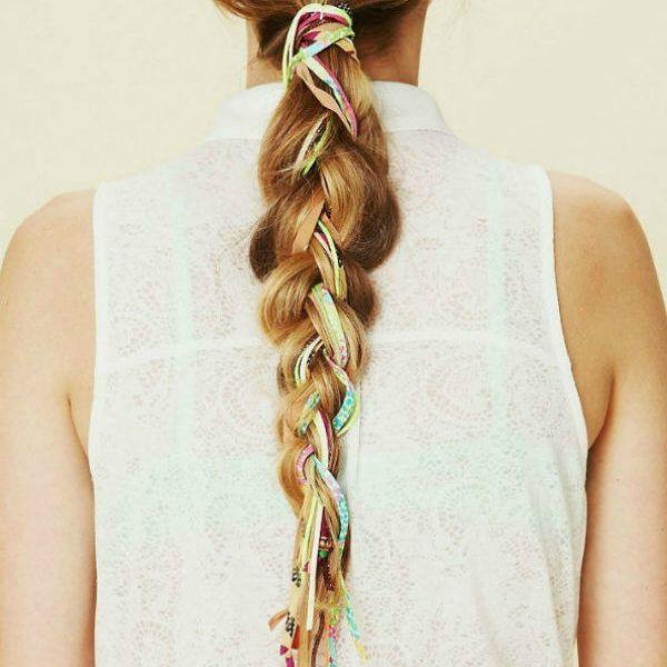 Обычная коса фото