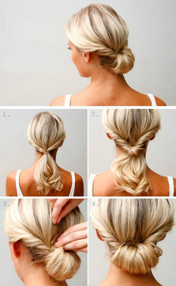 Простые прически на волосы до плеч