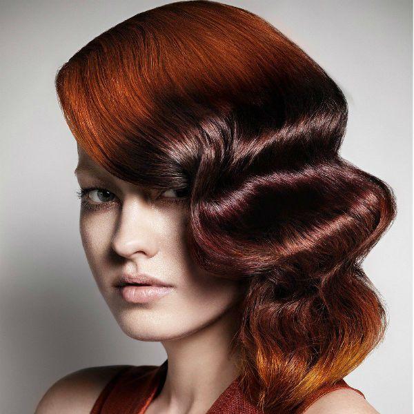 Креативная прическа на средних волосах фото