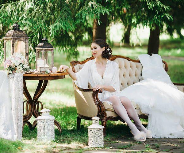 Утро невесты в английском стиле фото