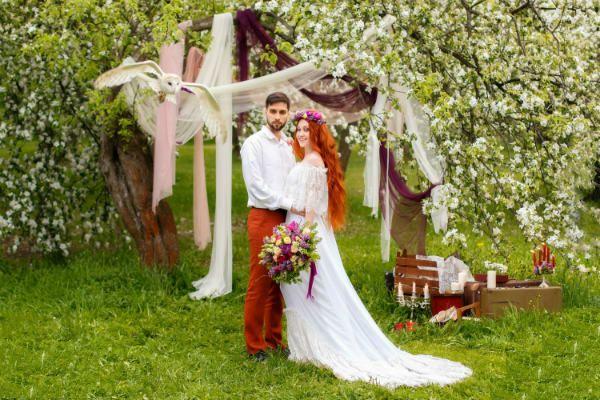 Свадебное платье бохо фото