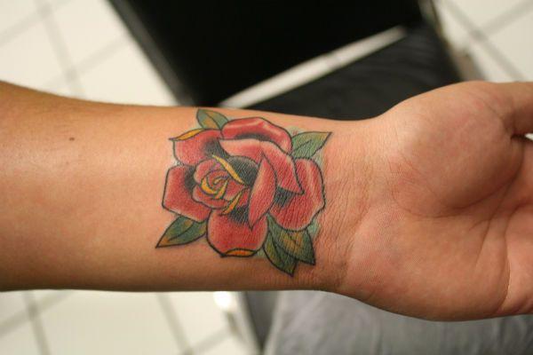 Тату роза фото