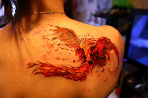 Татуировка Феникс фото