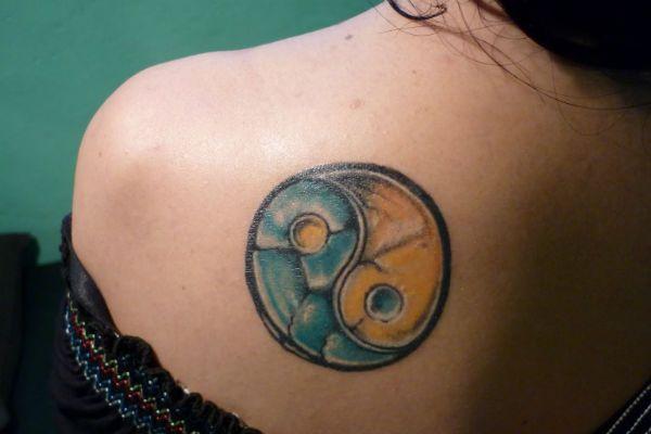 Татуировка инь-янь фото
