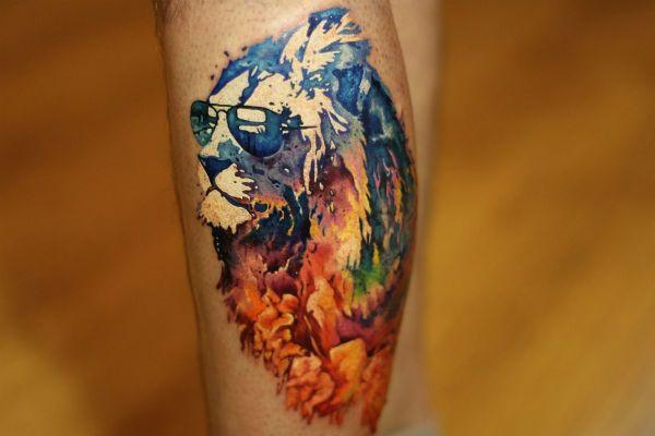 Татуировка Лев фото