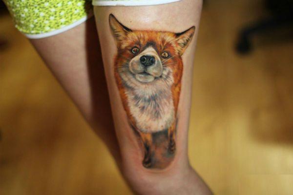 Татуировка Лиса фото