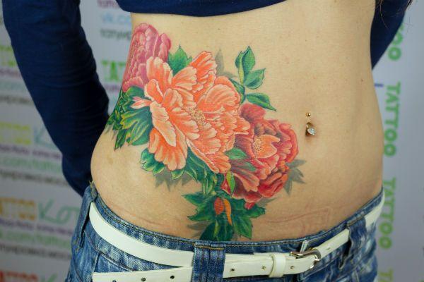 Татуировка Пион фото