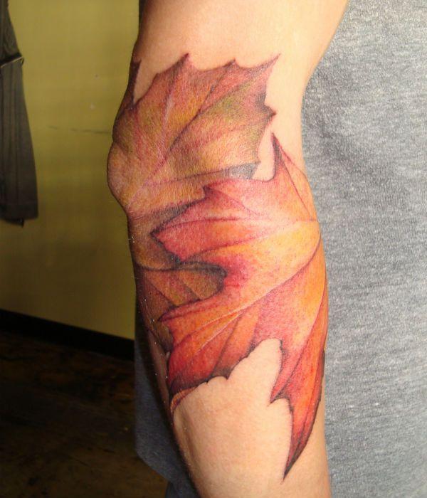 Татуировка листья фото