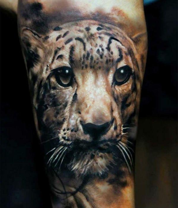 3д тату леопарда фото