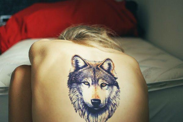 Татуировка Волк фото