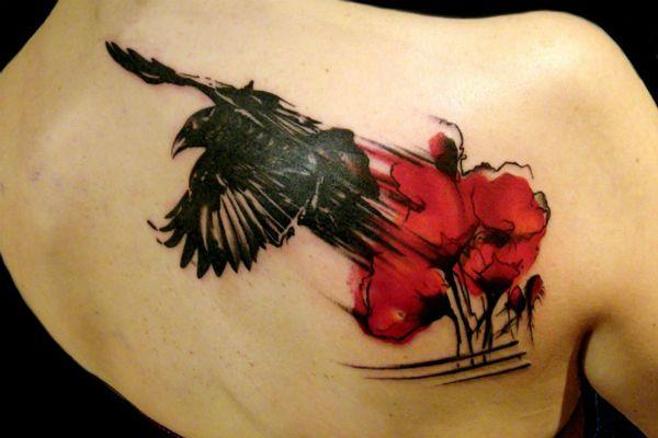 Татуировка Ворон фото