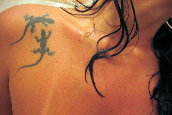 Татуировка Ящерица фото