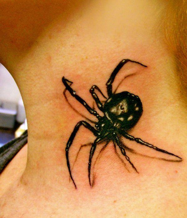 3д тату паук фото