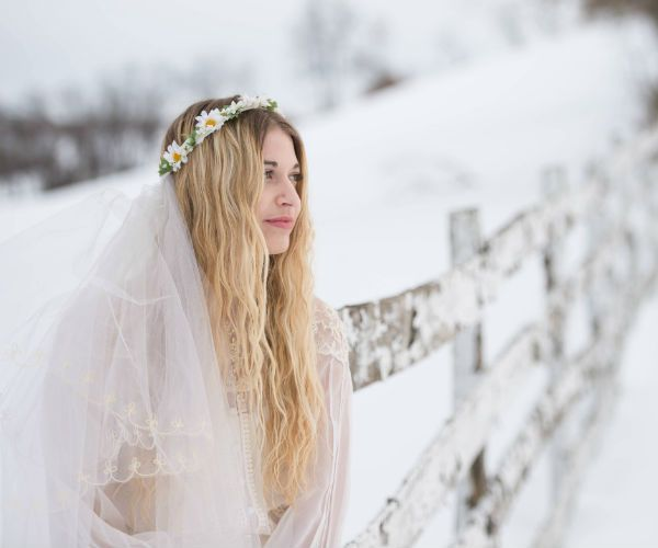 Невеста зимой фото