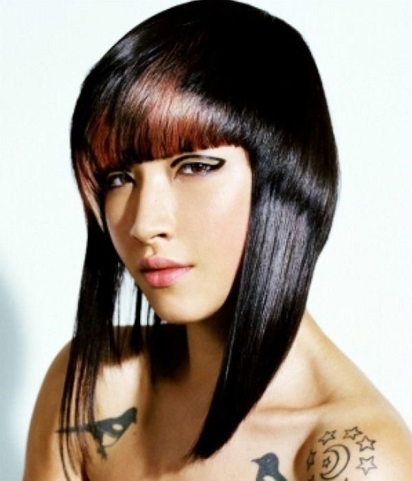 Асимметрия на средние волосы фото