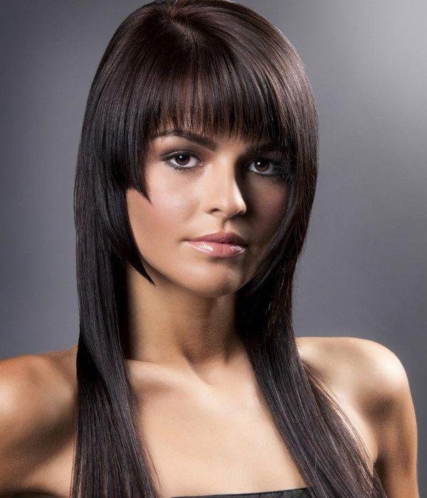 Модельная стрижка для средней длины волос 3 фото