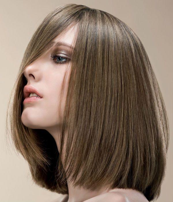 Паж для волос средней длины фото