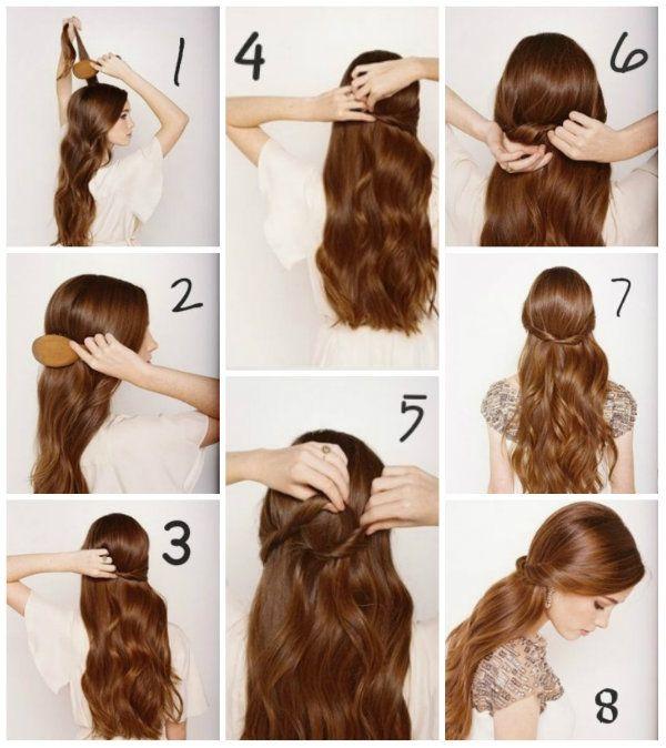 Прическа на распущенных волосах фото