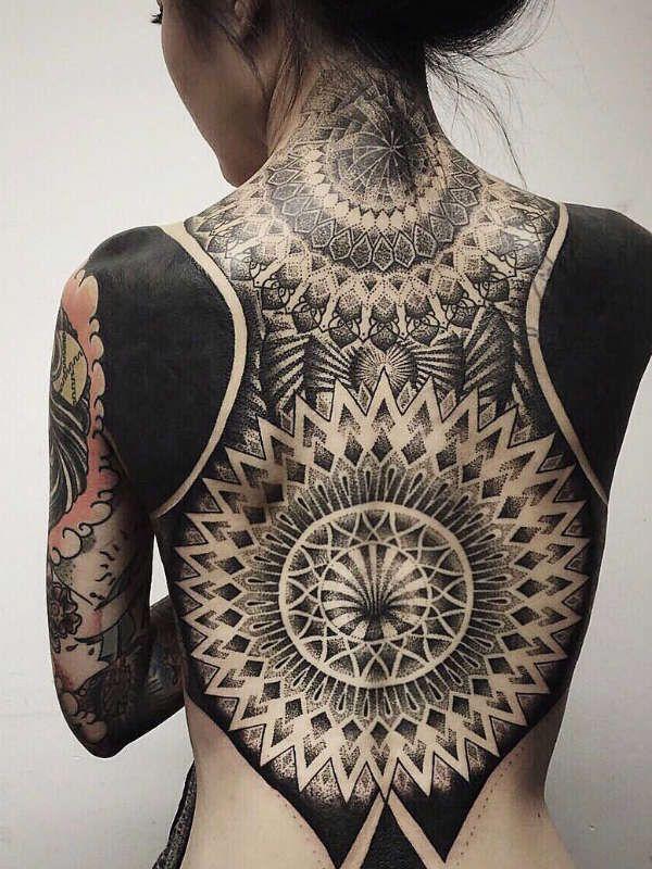 Татуировка Блэкворк фото
