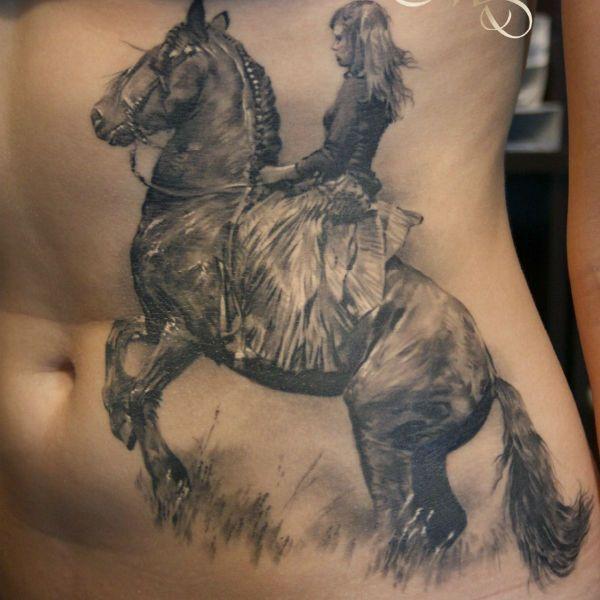 Тату коня фото