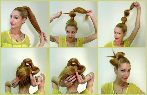 Бант из волос 2 фото