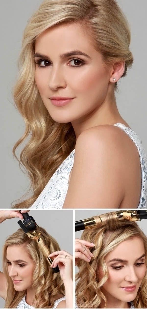 Кудри набок на средние волосы фото