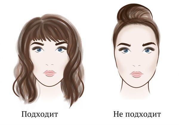 Стрижки для прямоугольного лица фото