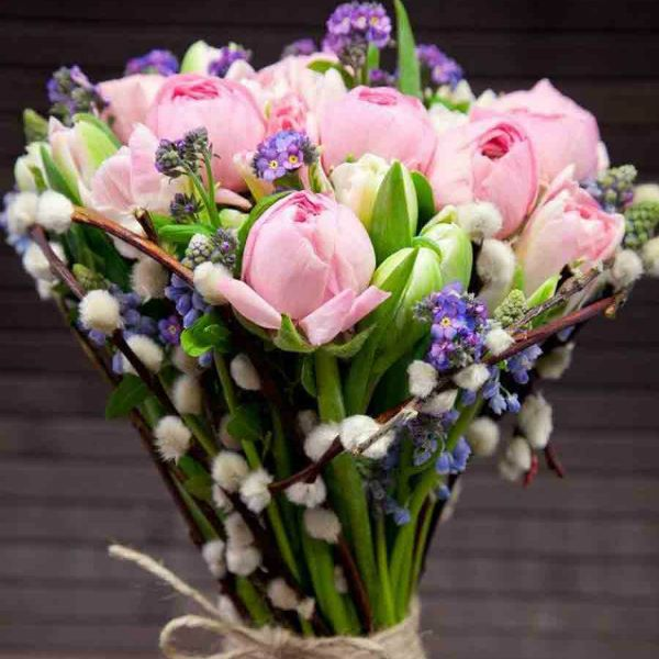 Букет из тюльпанов фото